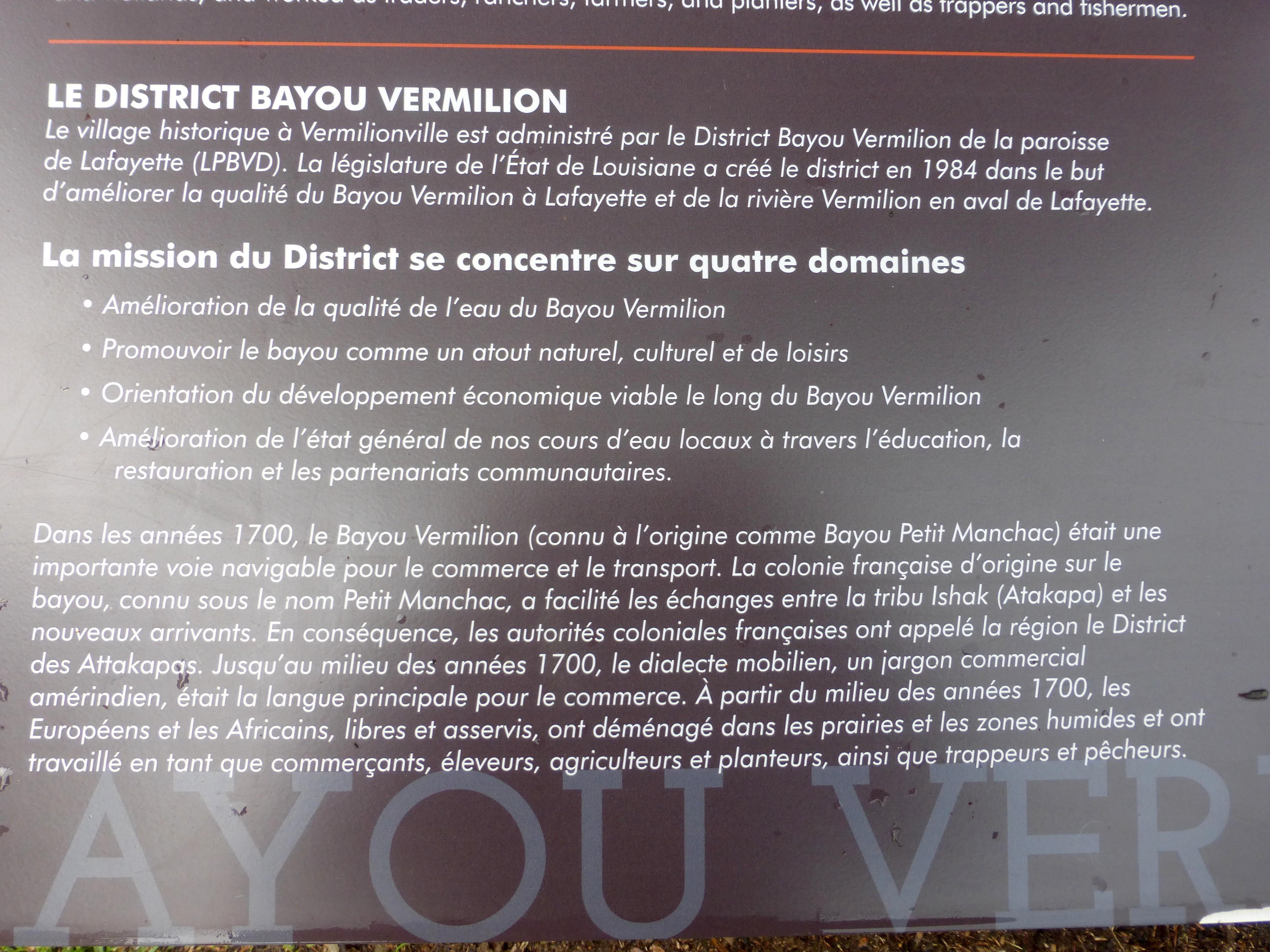 Vermillon village, les infos